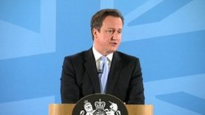 Prime Minister David Cameron is making a speech on immigration in Ipswich at UCS